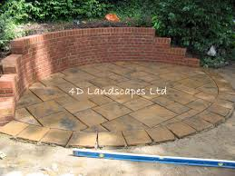 Brick Patio Design Patterns by Brick Patio And Fieldstone Retaining Wall Professional Hardscaping