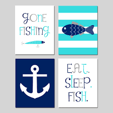 Fish Nursery Decor Fishing Nursery Decor Fish Nursery Fish Nursery Decor Set