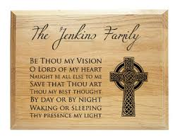 thou my vision family name plaque