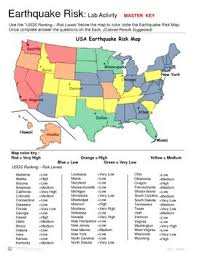 earthquakes lab activity earthquake risk labs activities