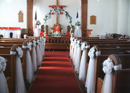 incridible church wedding pew decorations has wedding church