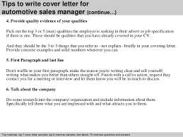 automotive sales manager cover letter sales manager cv example