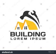 house repair logo house real estate stock vector 541184950