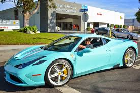 blue ferrari tiffany blue ferrari 458 speciale looks fantastic zero 2 turbo
