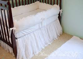 All White Crib Bedding White Lace Baby Crib Bedding White From Whimsicalandwitty On