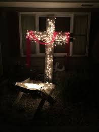 lighted christmas tree yard decorations build your own lighted christmas cross outside decoration with pvc