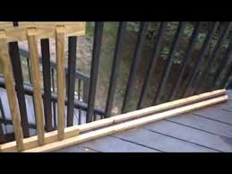 easy sliding gate for your deck youtube