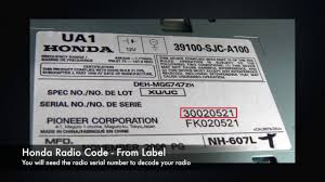 radio serial number honda accord honda radio codes from serial number find decode today