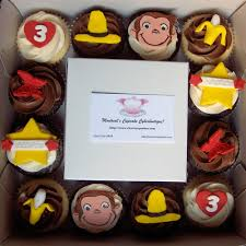 curious george cupcakes curious george cupcake box chocolate and vanilla cupcakes flickr