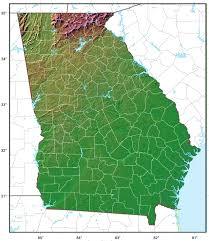 Maps Of Georgia Georgia Relief Map U2022 Mapsof Net