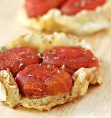 t駘駑atin recettes de cuisine tartelettes tatin à la tomate les meilleures recettes de cuisine