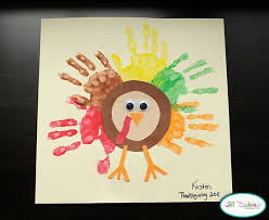 thanksgiving craft for toddlers with handprint themontecristos
