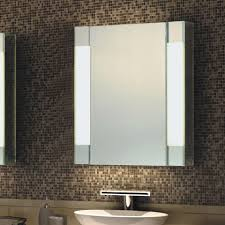 Double Sided Bathroom Mirror by Led Mirror Cabinet W 2 Adjustable Shelves U0026 Mirror Door