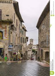 Assisi Italy Map by Street In Assisi Italy Stock Photo Image 53296820