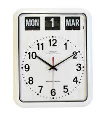 amazon com white u0027perpetual u0027 calendar clock g239a appliances
