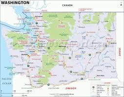 detailed map of usa and canada washington map map of washington u s state wa map