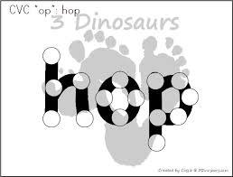 cvc word family dot marker words 3 dinosaurs
