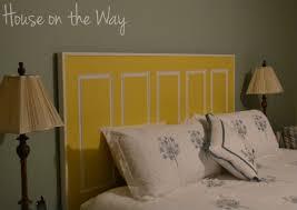 Diy Door Headboard Bedroom Wonderful Diy Door Headboard House On The Way Picture Of
