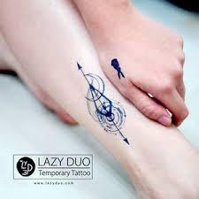 spiritual temporary galaxy arrow tattoos moon