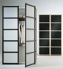 fascinating frozen glass double swing door ikea wardrobe for