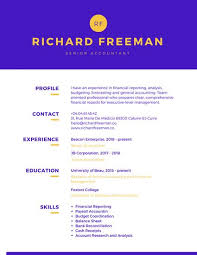purple yellow colorful resume templates by canva