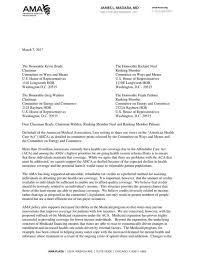 the american medical association letter to congress on the