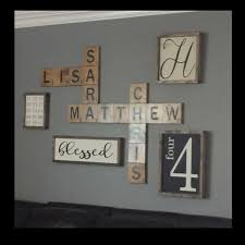 wall design ideas scrabble names wall scrabble