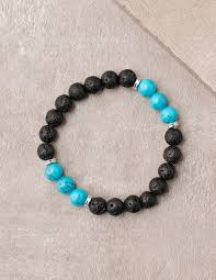 turquoise bead bracelet images Lava and turquoise bead bracelet 8mm beads jpg