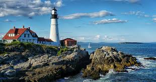 Cape Elizabeth Lights Portland Head Light Maine Unique Landmarks Around The World
