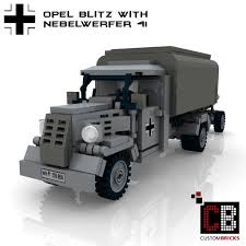german opel blitz truck custombricks de custom ww2 opel blitz with nebelwerfer 41