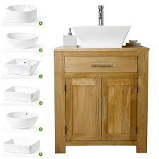 Off Oak Vanity Units With Basin Sink Bathroom Furniture - Solid wood bathroom vanity uk