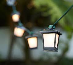 Mini Outdoor Lights Malta Mini Lantern String Lights Pottery Barn