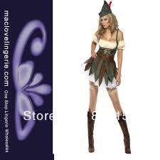 Female Robin Halloween Costume Ml5418 Free Shipping White Red Plaid Halloween Party Teacher