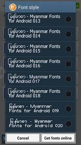 zawgyi one apk flipfont new zawgyi myanmar apk free personalization