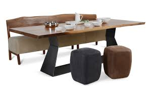 riva 1920 bedrock plank c table 6 8 seater in walnut