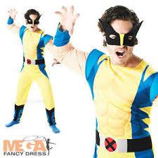 wolverine costume mens x men comic book movie fancy dress