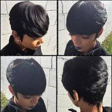 no hair left out from long to short weave short hairstyles