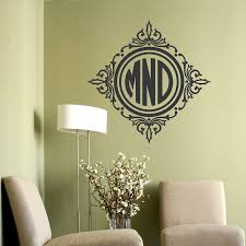 100 monogram wall sticker wall decal quote you can t fly circle framed monogram wall decal monogram wall decal artequals