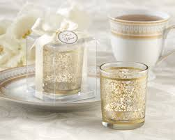 wedding candle favors gold glass tealight holder wedding favor