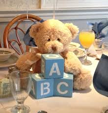 teddy baby shower decorations baby shower centerpiece with blocks baby shower