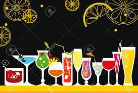 Liquor Clipart Retro Cocktail Pencil And In Color Liquor Clipart