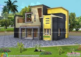 colorful contemporary style house 1800 sq ft kerala home design