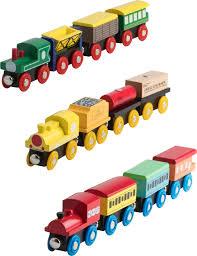 amazon com wooden train set 12 pcs train toys magnetic set