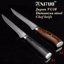 couteau de cuisine professionnel japonais acheter xituo couteau de cuisinier en poudre damascus de 5 5 pouces