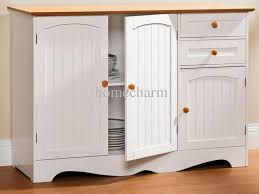 Kitchen Sideboard Hutch Dining Buffet Weathered Buffet And Antique Mirror Give The Cozy