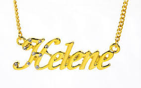 Gold Chain With Name 18k Gold Plated Necklace With Name Helene Stylish Name Chain