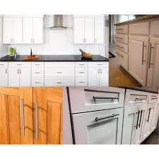 kitchen cabinet door handles home depot 5 in center to center brushed nickel kitchen cabinet door t