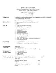 Objective Line Of Resume Sample Dental Assistant Resume Objectives Free Resume Samples