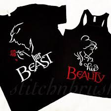 his and hers items beauty and beast shirts his beauty beast couples his