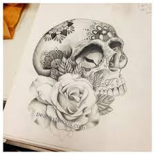 sugar skull and design tattoos
